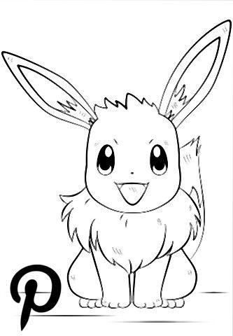 Evoli Pokemon Coloring Page Ausmalbild Fur Kindergeburtstag Pokemon Pikachu Character