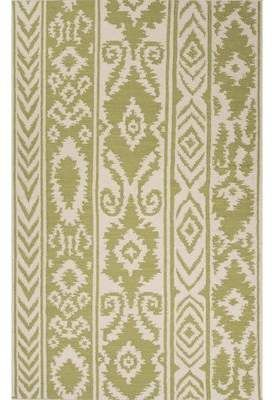 Bungalow Rose Terrence Hand Woven Wool Green Ivory Area Rug Area Rugs Ivory Rug Rugs