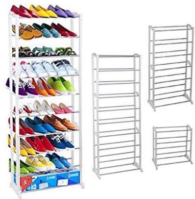 Amazon 30 Pairs 10 Tiers Shoe Organizer Shelf Space Saving Shoe Storage Rack Just 20 70 W Code Reg 45 99 As Of 4 22 2018 8 47 Pm Edt Space Saving Shoe Rack Shoe Storage Rack Space Saving Storage