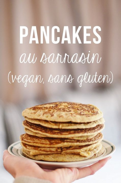 Pancakes au sarrasin (vegan, sans gluten)