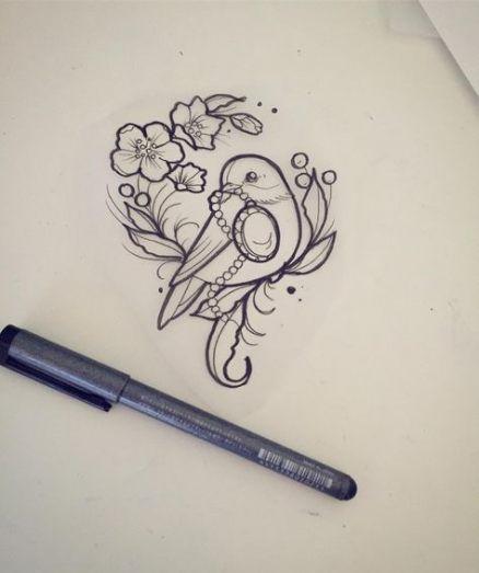 Tattoo Bird Sketch Illustrations 37+ Best Ideas