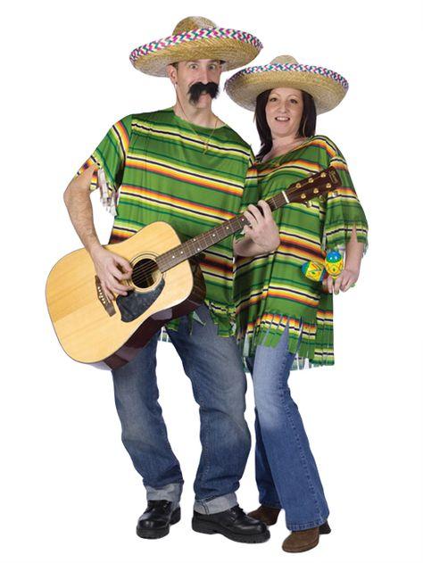 Mexikaner Poncho Kostüm grün-gelb-orange aus unserer Kategorie Cowboy & Indianerkostüme. Einmal als waschechter Mexikaner feiern, Musik machen und die ganze Nacht durchtanzen - mit diesem tollen Faschingskostüm ist es möglich!