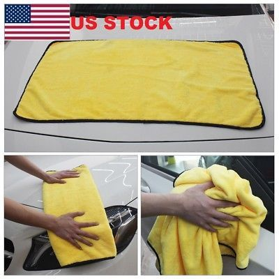 Super Absorbent Car Wash Microfiber Towel Car Cleaning Drying Cloth Hemming 2019
