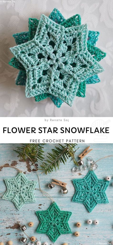 Snowflakes Crochet Decorations for Winter Record of Knitting Yarn spinning, weaving and sewing jobs such as for instance BC. Beau Crochet, Gilet Crochet, Crochet Stars, Crochet Motifs, Crochet Snowflakes, Crochet Flowers, Knit Crochet, Real Snowflakes, Crochet Winter