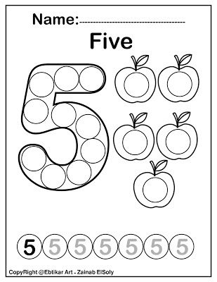 Number Five 5 Dot Marker Coloring Page Activity Apple Counting Activi Preschool Activities Printable Alphabet Worksheets Preschool Numbers Preschool Printables