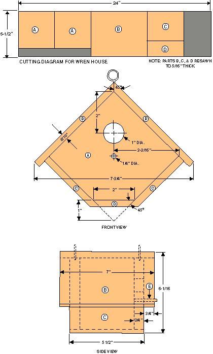 Chickadee+Bird+House+Plans | Our Chickadee Bird House - Houses ...