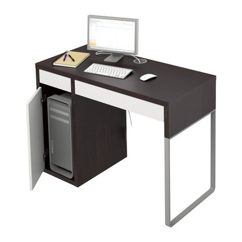 Could be used as a sewing table. I need to go by Ikea and measure the space to see if the sewing machine would fit in the desk. Micke from Ikea $79