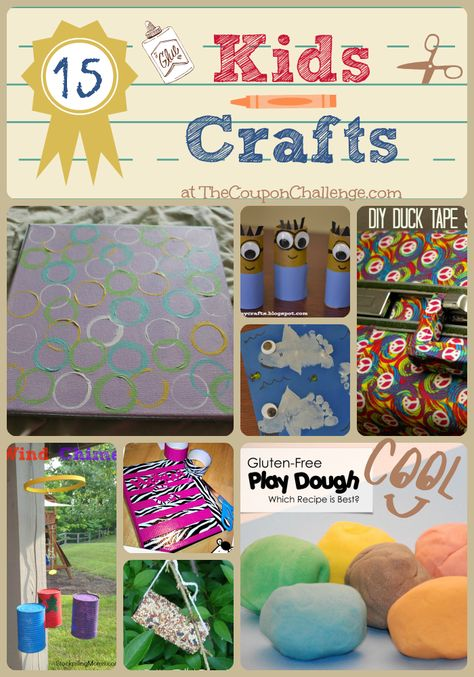 Not sure what to do with the kids today?  Try 19 or more) of these 15 Easy Kids Crafts.  It's sure to keep them entertained for hours.
