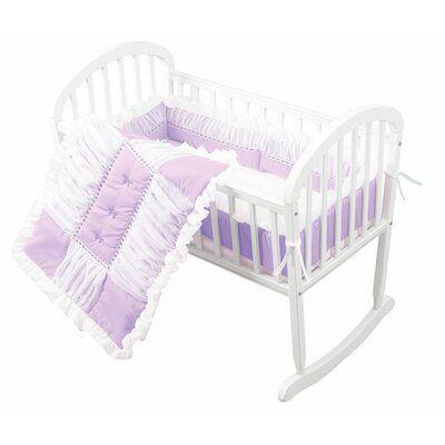 Harriet Bee Hennessey Baby Cradle Bedding Set Colour Lavender
