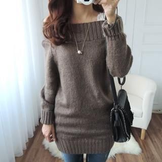 Buy 'CYNTHIA – Off-Shoulder Sweater Dress' with Free International ...