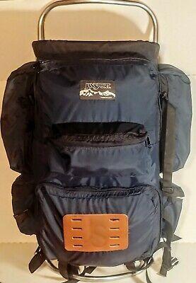 Vintage Jansport D3 External Frame Backpack Hip Wings Blue Usa 70 S Evc In 2020 External Frame Backpack Leather Bottom Backpack Usa Bag