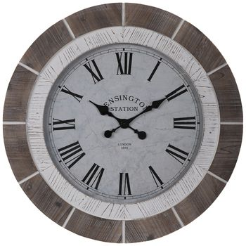 Brown White Wood Wall Clock Hobby Lobby 1949056 In 2020 White Wood Wall Wall Clock Wood Wall Clock