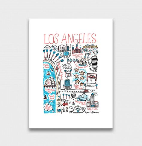 """Los Angeles Art Print - Midi Art Print 30x40cm / 11.8x15.8"""" / No Frame"""