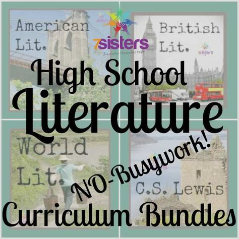 Online homeschooling high school High School Literature No-Busywork Curriculum. Level-able from average high school to high-powered honors. Doesn't kill the book! Included background material, vocabulary, comprehension and inferential questions. High School Literature, Teaching Literature, American Literature, High School Reading, World Literature, Ela High School, Writing Curriculum, Teaching Art, Homeschool High School