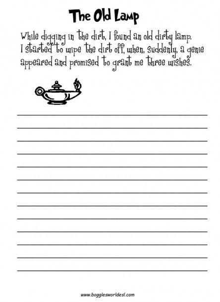 Esl Worksheets Grade 1 Writing Prompts For Kids, Creative Writing  Worksheets, 2nd Grade Writing