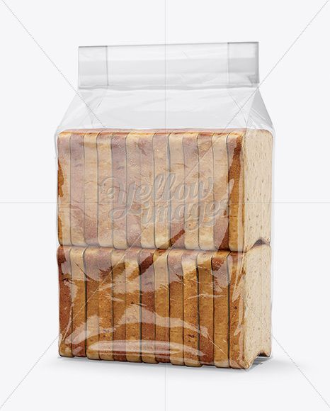 Download Bag W Sliced Bread Paper Label Mockup Half Side View In Bag Sack Mockups On Yellow Images Object M Packaging Mockup Mockup Free Download Bread Packaging