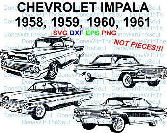 Chevrolet Impala Front 1961 1964 Chevy Impala Muscle Car Auto Vector Chevy Svg Ch In 2020 Chevrolet Impala Chevy Impala Impala