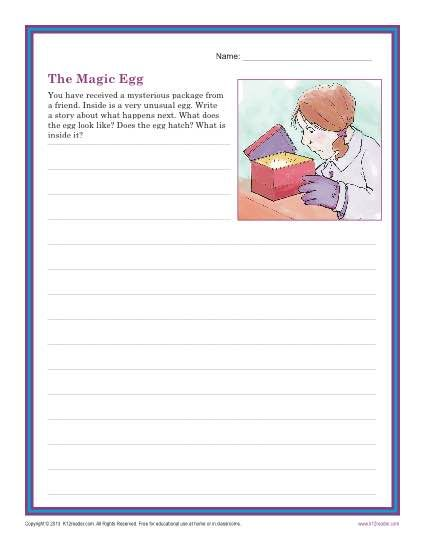 The Magic Egg | Creative Writing Prompt for 3rd and 4th Grade