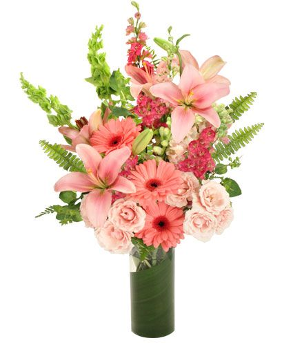 Pink Persuasion Arrangement Valentine S Day Flower Arrangements Spring Flower Arrangements Get Well Flowers