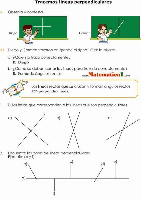 Estudio De Los ángulos Y Las Líneas Escuadra Y Transportador En Tercero De Pr Actividades De Matematicas Prácticas De Matemáticas Paralelas Y Perpendiculares
