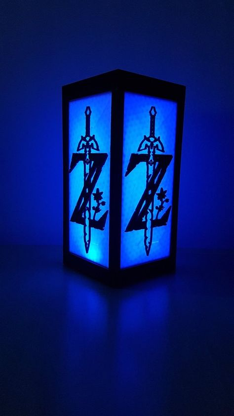 Lampe Rgb Zelda Botw 24cm 5 Faces Imprimes Relief Telecommande