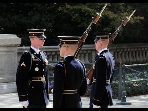 Best Changing of the Guard, Tomb of the Unknown Soldier, Arlington - YouTube
