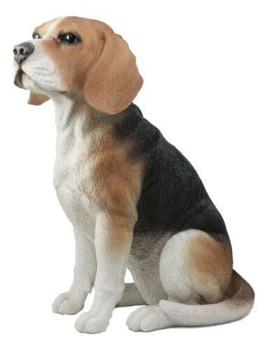 Ebros Large Lifelike Realistic Classic Tri Colored Beagle Dog