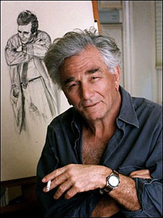 Peter Falk 1927-2011. Died at age 84 after years of dementia and Alzheimer's disease. Married 16yrs to 1st wife Alyce Mayo. They'd adopted 2 daughters Catherine  Jackie. His 2nd wife, Shera Danese, was 21 yrs his junior and they were together 33 yrs before his death.