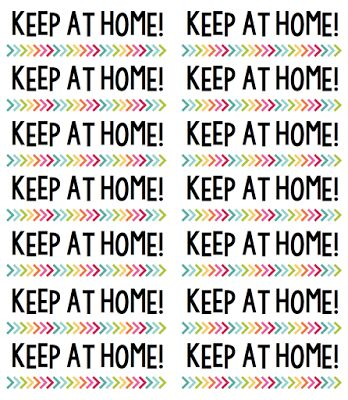 """Label your students' take home / homework folders with """"Return to School"""" & """"Keep at Home"""" so there is no confusion about which papers stay home and which papers come back!  :)  FREE from TheHappyTeacher"""