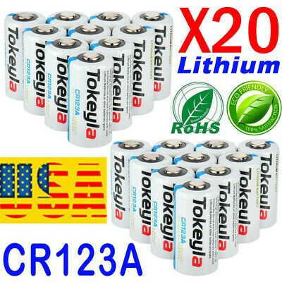 Ad Ebay Link Tokeyla 3v Cr123a 123 123a Cr17345 3 Volt Lithium Batteries For Camera 20 Pack Lithium Battery Batteries Camera