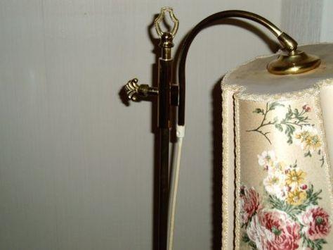 Shabby Stehlampe, Leselampe mit Blüten-Stoffschirm in Wandsbek - ebay kleinanzeigen köln küche