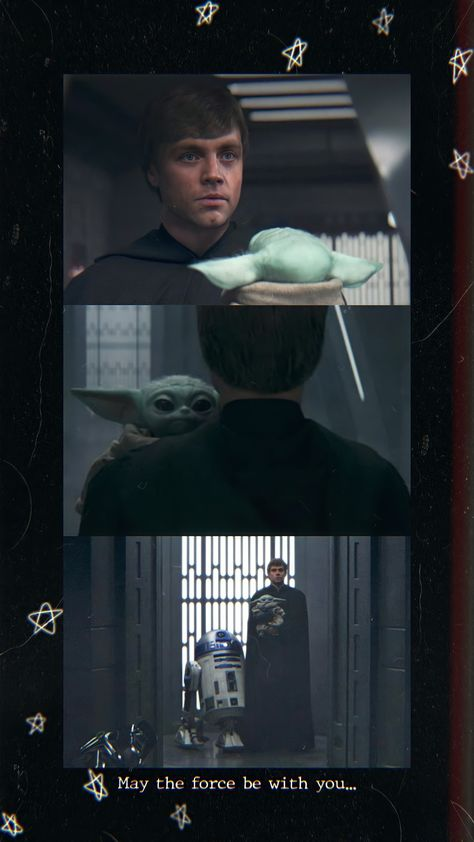 Wallpaper Luke Skywalker and Grogu The mandalorian 🤍