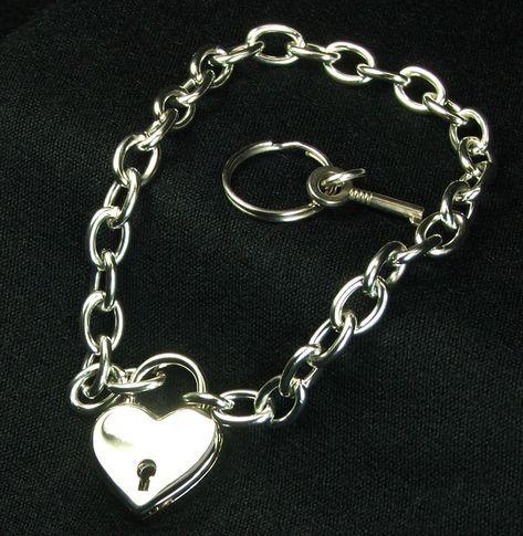 Day Collar Locking Heart Lock Intricate Chain Choke Bolero Slide Slip Crystal O-ring