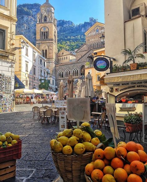 The charm and atmosphere of  Amalfi in Italy
