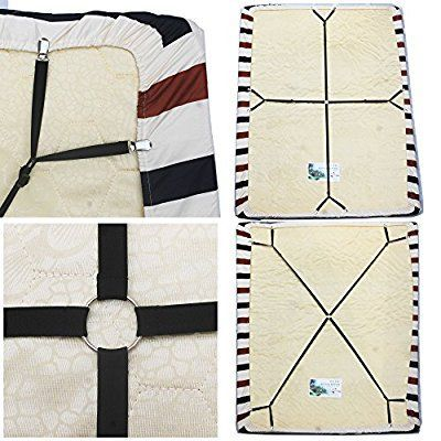 Crisscross Adjustable Bed Sheet Straps Bed Sheet Suspenders Gripper Bed Sheet Holder Bed Sheet Fastener Keep Your Bed Adjustable Beds Fitted Sheet Bed Sheets