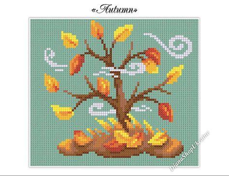 Autumn Cross Stitch Pattern Pdf Instant Download Fall