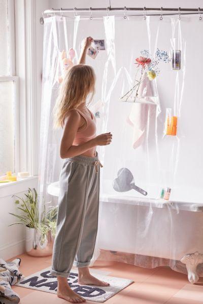 Clear Pocket Shower Curtain Liner Modern Shower Curtains Cute