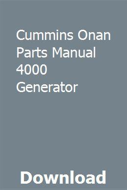 Cummins Onan Parts Manual 4000 Generator   arglewpubhough