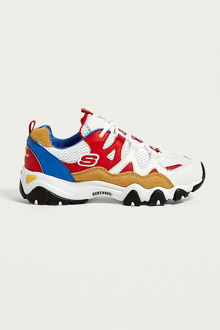 Skechers D'Lites One Piece Red Trainers