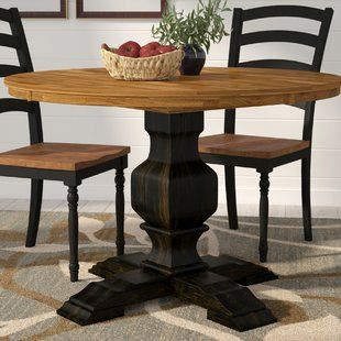 Alcott Hill Melin Round Dining Table Wayfair Solid Wood Dining