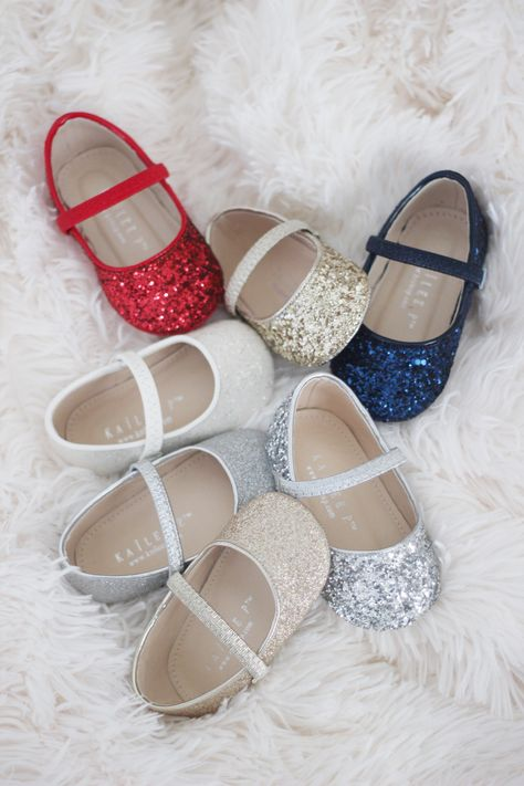 Glitter mary janes for newborns and  baby