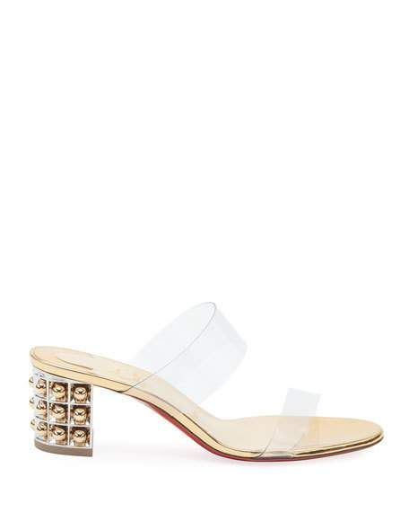 cb2dcd46aa9 Christian Louboutin Almost Nothing See-Through Red Sole Sandals in ...