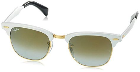 Ray-Ban CLUBMASTER ALUMINUM - BRUSHED SILVER Frame GREEN FLASH GRADIENT  Lenses 49mm Non-Polarized Review afc1de9e69
