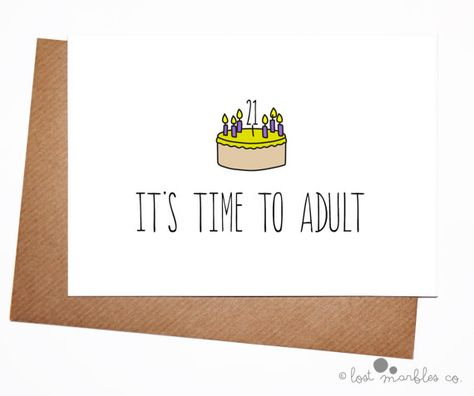 21st Birthday Card Her His Funny For Him Adult Its Time To