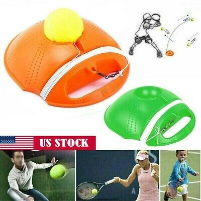Advertisement Ebay Us Pro Single Tennis Trainer Training Tool Practice Rebound Balls Back Base Ball In 2020 Training Tools Rebounding Tennis Trainer
