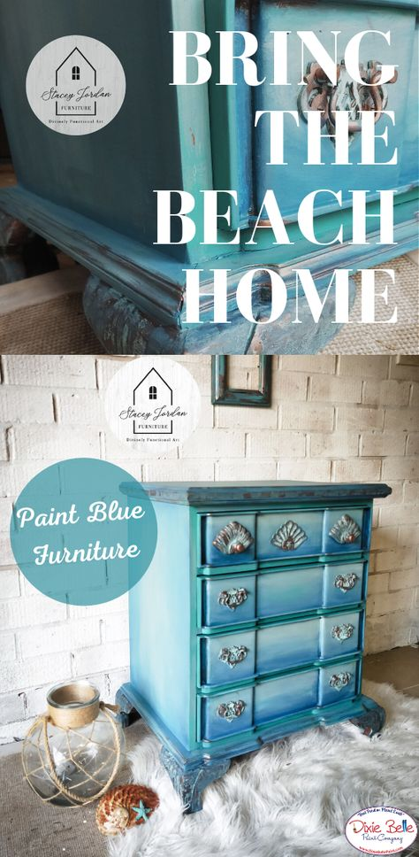 Blue Furniture, Refurbished Furniture, Paint Furniture, Furniture Makeover, Diy Furniture Projects, Handmade Furniture, Home Projects, Dixie Belle Paint, Painted Chairs