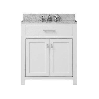 Home Decorators Collection Hampton Harbor 45 In W X 22 In D Bath Vanity In White With Natural Marble Vanity Top In White Natural Bf 23148 Wh In 2020 Bathroom Vanity Cabinets Home Depot