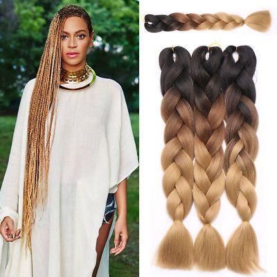 Us Crochet Box Braids Hair Extensions 100 Pcs Synthetic Ombre