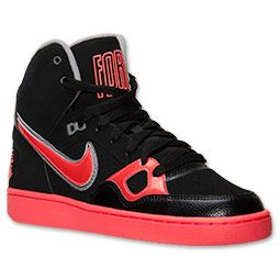 newest collection 40093 5481a Women s Nike Son of Force Mid Casual Shoes   Finish Line   Black Atomic  Red Silver