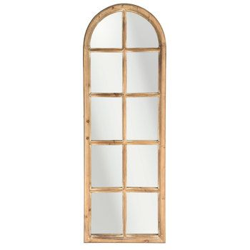 Brown Arched Window Pane Mirror Window Pane Mirror Arched Windows Window Mirror